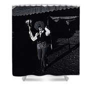Film Homage Charlie Chaplin The Circus 1928 Clown Strong Circus Bisbee Arizona 1980 Shower Curtain
