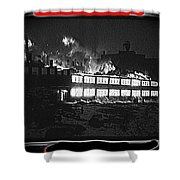 Film Homage Chris Marker La Jetee 1962 Winter Fire Collage Aberdeen South Dakota 1965-2013 Shower Curtain