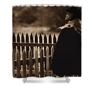 Film Homage Deana Martin Funeral Young Billy Young Set Old Tucson Arizona 1968 Shower Curtain