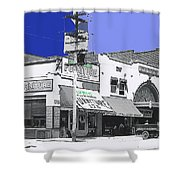 Film Homage Director Allan Dwan Soldiers Of Fortune 1919 Lyric Theater Tucson Arizona 1919-2008 Shower Curtain
