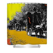 Film Homage Haskell Wexler Days Of Heaven Hay Wagons 1878-2008 Shower Curtain