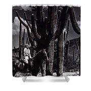 Film Homage Jean Harlow Bombshell 1933 Saguaro National Monument Tucson Arizona Duo-tone 2008 Shower Curtain