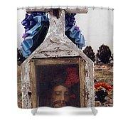 Film Homage John Wayne The Greatest Story Ever Told 1965 Cemetery Tubac Arizona 2000 Shower Curtain