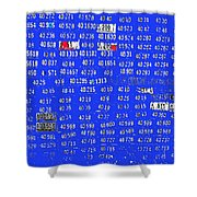 Film Homage License To Kill 1989 License Plates Ghost Town Crested Butte Colorado 1968-2012 Shower Curtain