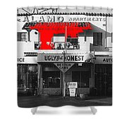 Film Homage Mickey Rourke Harley Davidson And The Marlboro Man 1991 Five Points Alamo Apartments Shower Curtain