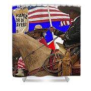 Film Homage Ride Vaquero 1953 1 Hispanic Riders Rodeo Parade Tucson Az 2002-2008 Shower Curtain