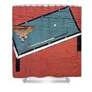 Film Noir Phil Carlson The Phenix City Story 1955 Bar Wall Pool Table Eloy Arizona 2005 Shower Curtain