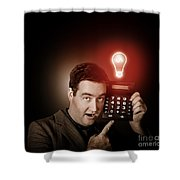 Financial Business Man With Money Idea Shower Curtain