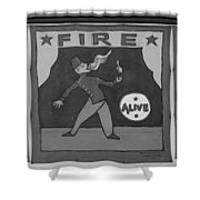 Fire Eater In Black And White Shower Curtain