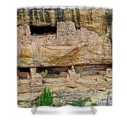 Fire Temple On Chapin Mesa Top Loop Road In Mesa Verde National Park-colorado  Shower Curtain