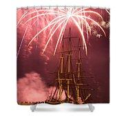 Fireworks Exploding Over Salem's Friendship Shower Curtain