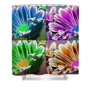 Firmenish Bicolor Pop Art Shades Shower Curtain