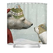 First Winter Shower Curtain by Eric Fan