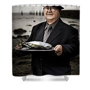 Fishing And Consumption Shower Curtain