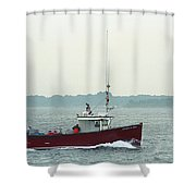 Fishing Boat - Portland Maine Shower Curtain