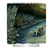 Fishing Buddies Shower Curtain