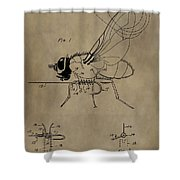 Fishing Fly Patent Shower Curtain