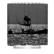 Fishing Friends Shower Curtain