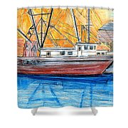 Fishing Trawler Shower Curtain