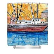 Fishing Trawler Shower Curtain