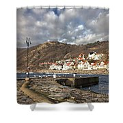 Fishing Village Of Molle In Sweden Shower Curtain