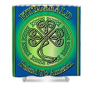 Fitzgerald Ireland To America Shower Curtain