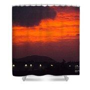 Flaming Sunrise II Shower Curtain