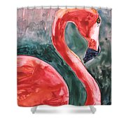 Flamingo Icon Shower Curtain