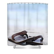 Flip-flops On Beach Shower Curtain