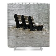 Flooded Seat  Shower Curtain