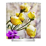 Floral Art Iv Shower Curtain
