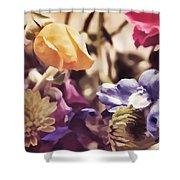 Floral Art V Shower Curtain