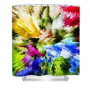 Floral Art X Shower Curtain