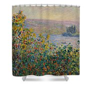 Flower Beds At Vetheuil Shower Curtain