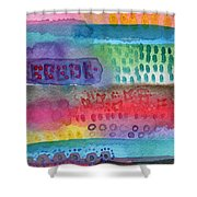 Flower Garden Shower Curtain by Linda Woods