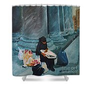 Flower Lady Of The Pantheon Shower Curtain