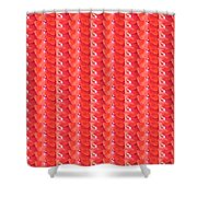 Flower Petal Petal Art From Cherryhill Nj America Micro Patterns Red Color Tones Light Shades Shower Curtain