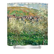 Flowering Plum Trees Shower Curtain