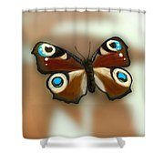 Fly Butterfly Shower Curtain