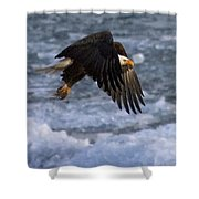 Flying Over Ice Shower Curtain