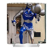 Folly Statue At The Mardi Gras Museum - Mobile Alabama Shower Curtain
