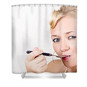 Food Connoisseur Eating Fine Dining Cuisine Shower Curtain