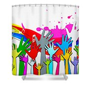 1 For All - All For 1 Shower Curtain