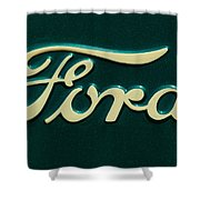 Ford Emblem Shower Curtain