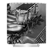 Ford Engine Shower Curtain