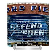 Ford Field Shower Curtain