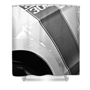 Ford Mustang Boss 302 Emblem Shower Curtain