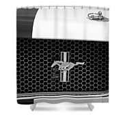 Ford Mustang Gt 350 Grille Emblem Shower Curtain