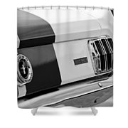 1966 Ford Shelby Mustang Gt 350 Taillight Shower Curtain