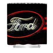 Ford Neon Sign Shower Curtain